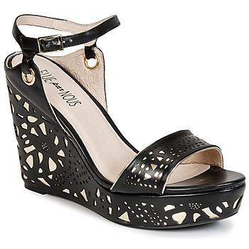 Schoenen Dames Sandalen / Open schoenen Elue par nous RIAZONE Zwart