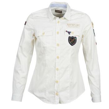 Textiel Dames Overhemden Napapijri GLENDA Wit