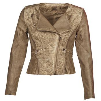 Textiel Dames Leren jas / kunstleren jas Cream LIL Taupe