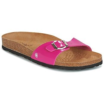 Schoenen Dames Leren slippers Casual Attitude CHASTO Fushia / Carbon
