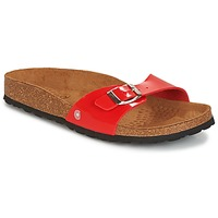 Schoenen Dames Leren slippers Casual Attitude CHASTO Rood / Carbon