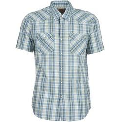 Textiel Heren Overhemden korte mouwen Levi's WOVENS Blauw