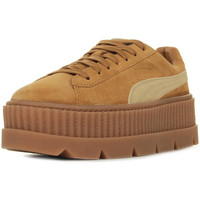Schoenen Dames Lage sneakers Puma Rihanna Cleated Creeper Suede Bruin