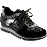 Schoenen Dames Lage sneakers Mephisto Vicky Zwart leer