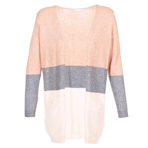 Textiel Dames Vesten / Cardigans Only ONLQUEEN Roze / Grijs