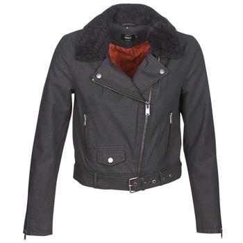 Textiel Dames Leren jas / kunstleren jas Only ONLCAROL Zwart
