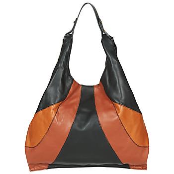 Tassen Dames Handtassen lang hengsel André PAULINE Zwart / Bruin