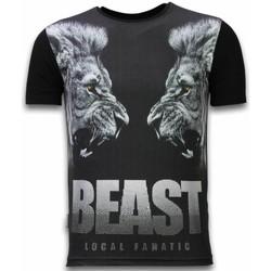 Textiel Heren T-shirts korte mouwen Local Fanatic Beast - Digital Rhinestone T-shirt 38