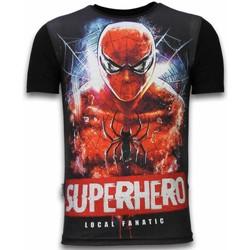 Textiel Heren T-shirts korte mouwen Local Fanatic Superhero  - Digital Rhinestone T-shirt 38