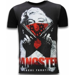 Textiel Heren T-shirts korte mouwen Local Fanatic Gangster Marilyn - Digital Rhinestone T-shirt 38