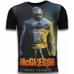 Textiel Heren T-shirts korte mouwen Local Fanatic McGregor Fire Arm - Digital Rhinestone T-shirt 38