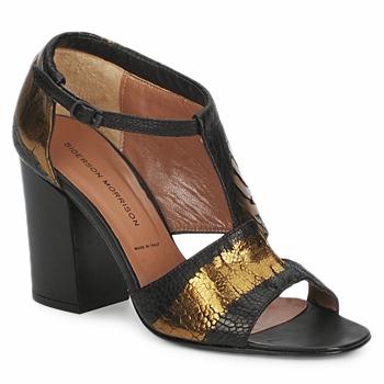 Schoenen Dames Sandalen / Open schoenen Sigerson Morrison STRUZZO Zwart / Brons