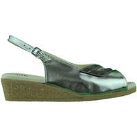 Schoenen Dames Sandalen / Open schoenen Made In Italia Sandalo donna zeppa bassa in sughero comodo comfort oro Gold