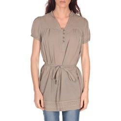 Textiel Dames Tunieken Vision De Reve Tunique Claire 7090 Taupe Bruin
