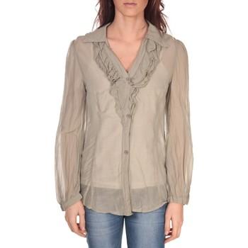 Textiel Dames Tops / Blousjes Vision De Reve Tunique Lorine 7068 Gris Bruin