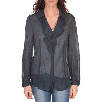 Textiel Dames Tops / Blousjes Vision De Reve Tunique Lorine 7068 Bleu-Marine Blauw