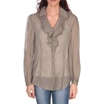 Textiel Dames Tops / Blousjes Vision De Reve Tunique Lorine 7068 Taupe Bruin