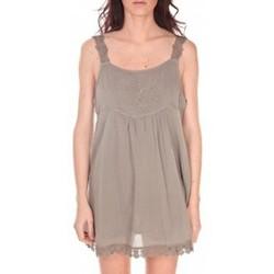 Textiel Dames Tunieken Vision De Reve Robe Toupie 7062 Marron Bruin