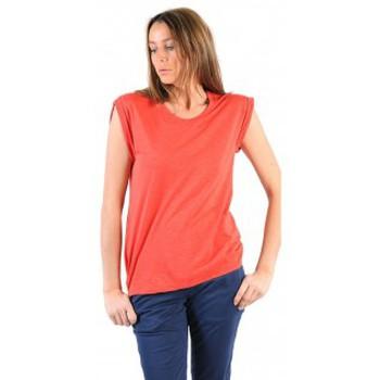 Textiel Dames T-shirts korte mouwen American Vintage TEE-SHIRT JAC60E11 VERMILLON Rood