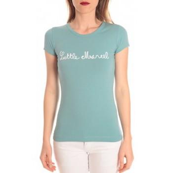 Textiel Dames T-shirts korte mouwen Little Marcel t-shirt tokyo corde turquoise Blauw