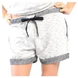 Textiel Dames Korte broeken / Bermuda's La Petite Française SHORT PLACIDE GRIS CHINE Grijs
