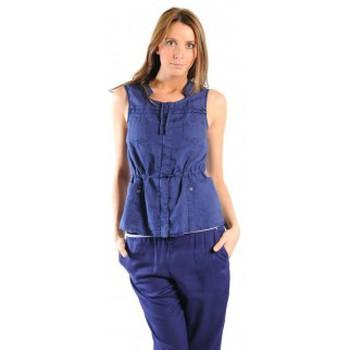 Textiel Dames Vesten / Cardigans Sud Express GILET GAMBANI BLEU OCEAN Blauw