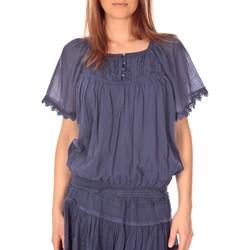 Textiel Dames Tops / Blousjes Vision De Reve vision de rêve t-shirt 9007 bleu Blauw