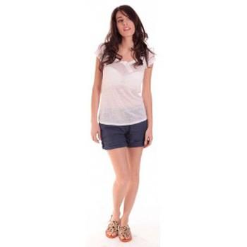 Textiel Dames T-shirts korte mouwen Sud Express TEE-SHIRT TARIKA BLANC Wit