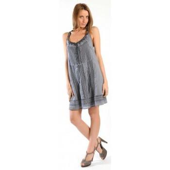 Textiel Dames Korte jurken Sud Express ROBE RONALDE CIMENT Grijs
