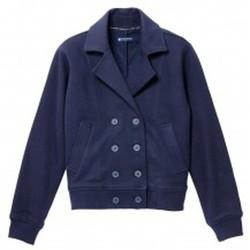 Textiel Dames Jacks / Blazers Petit Bateau Veste Femme en Milano Esprit Caban Bleu Smoking Blauw