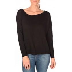 Textiel Dames Truien Tom Tailor Basic Structure Pullover Noir Zwart
