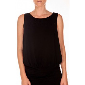 Textiel Dames Mouwloze tops Vero Moda BELFAST SL TOP EA noir Zwart