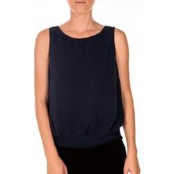 Textiel Dames Mouwloze tops Vero Moda BELFAST SL TOP EA navy Blauw