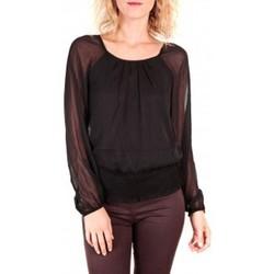 Textiel Dames Tops / Blousjes Vero Moda Neeba Maria Dicte LS Top Mix EA Zwart