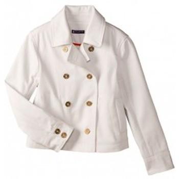 Textiel Dames Jacks / Blazers Petit Bateau Caban femme volume court en serge 32318 07 Blanc Wit