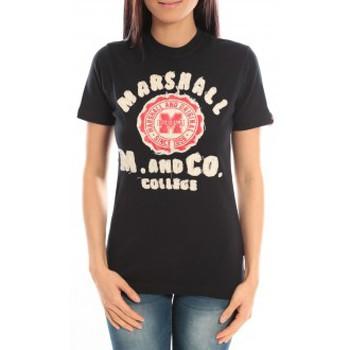 Textiel Dames T-shirts korte mouwen Sweet Company T-shirt Marshall Original M and Co 2346 Noir Zwart