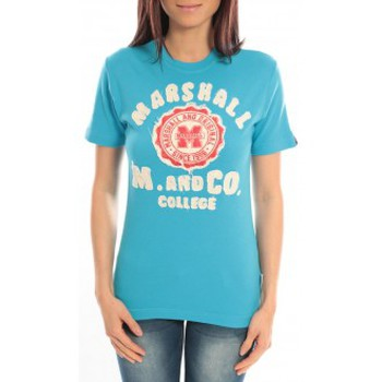 Textiel Dames T-shirts korte mouwen Sweet Company T-shirt Marshall Original M and Co 2346 Bleu Blauw