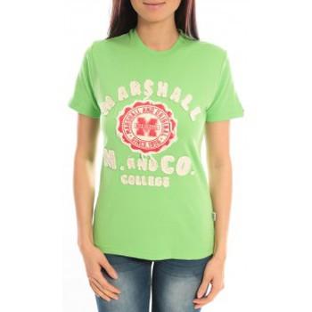Textiel Dames T-shirts korte mouwen Sweet Company T-shirt Marshall Original M and Co 2346 Vert Groen