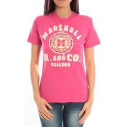 Textiel Dames T-shirts korte mouwen Sweet Company T-shirt Marshall Original M and Co 2346 Fushia Roze