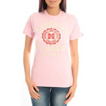 Textiel Dames T-shirts korte mouwen Sweet Company T-shirt Marshall Original M and Co 2346 Rose Roze