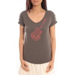Textiel Dames T-shirts korte mouwen Blune T-Shirt Changer d'air CA-TF01E13 Gris Grijs
