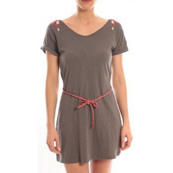 Textiel Dames Korte jurken Blune Robe Larme de Joie LJ-RF01E13 Grise Grijs
