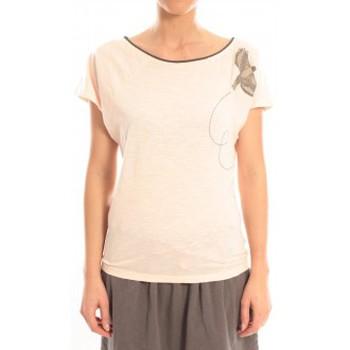 Textiel Dames T-shirts korte mouwen Blune T-Shirt Libre Comme l'Air LCL-TF02E13 Rose Roze