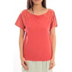 Textiel Dames T-shirts korte mouwen Blune T-Shirt Pointilleuse PO-TF02E13 Rouge Rood