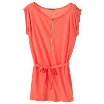 Textiel Dames Korte jurken Petit Bateau Robe femme en jersey flammé 32992 20 Orange Oranje