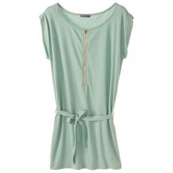 Textiel Dames Korte jurken Petit Bateau Robe femme en jersey flammé 32992 02 Vert Groen
