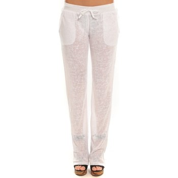 Textiel Dames Trainingsbroeken By La Vitrine Pantalon  BLV01Blanc Wit