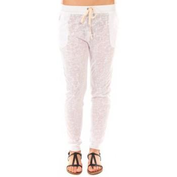 Textiel Dames Broeken / Pantalons By La Vitrine Pantalon American Vitrine BLV02 Blanc Wit