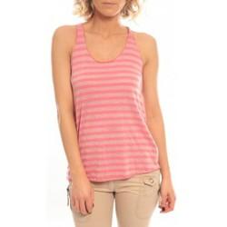 Textiel Dames Mouwloze tops So Charlotte Oversize tank Top Stripe T36-371-00 Rose Roze