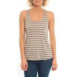 Textiel Dames Mouwloze tops So Charlotte Oversize tank Top Stripe T36-371-00 Gris Grijs